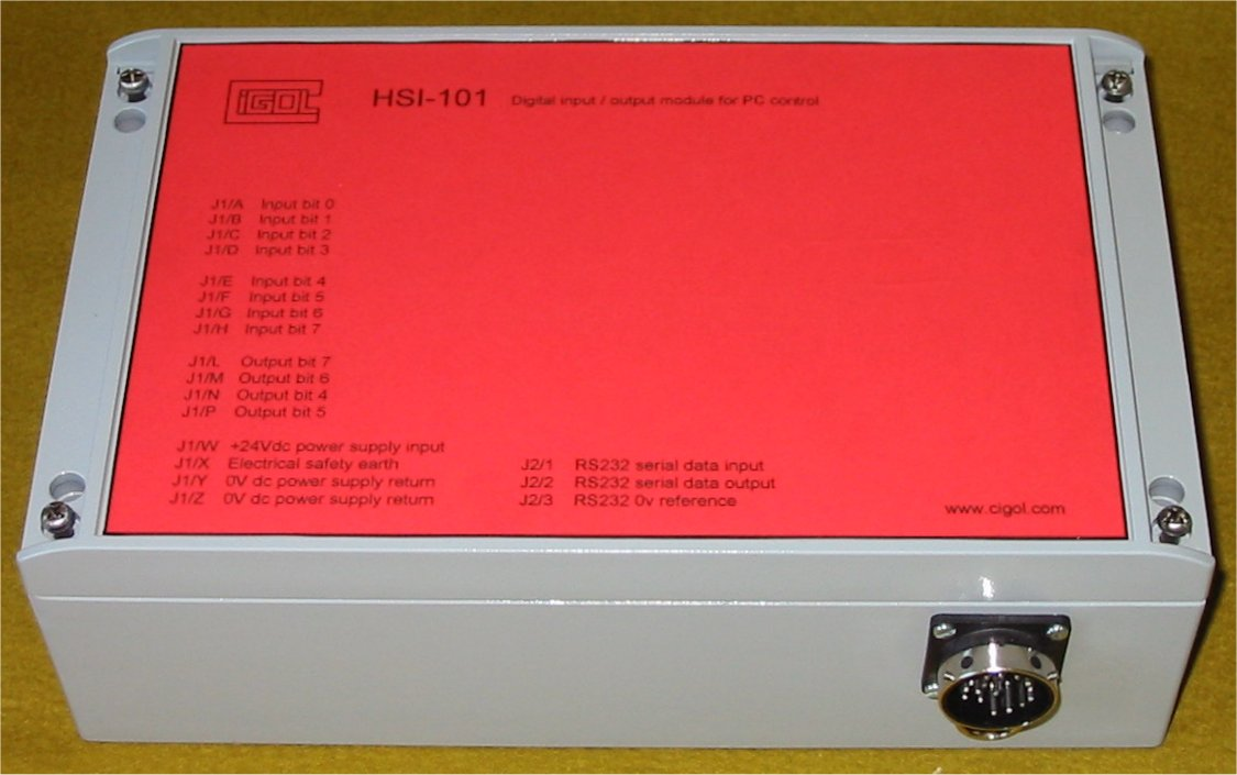 Photograph of HSI_101 digital i/o unit