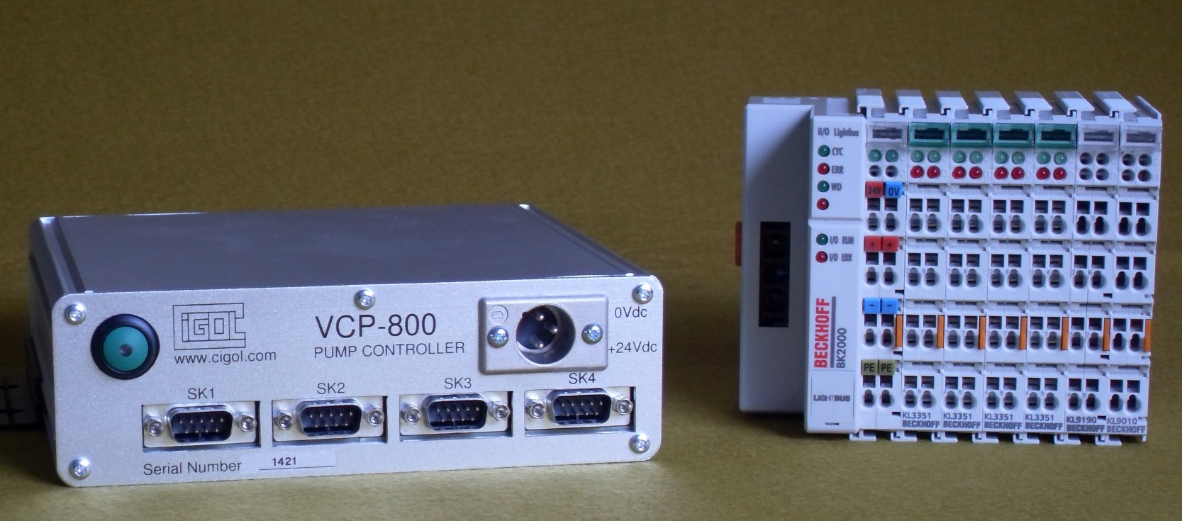 Photograph of VCP-800 and Beckhoff i/o